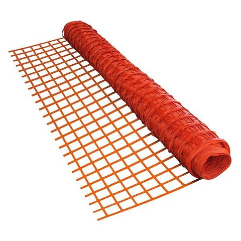 ALEKO Safety Fence Barrier 4 X 100 Feet PVC Mesh Net Guard Orange - 4' x 100'