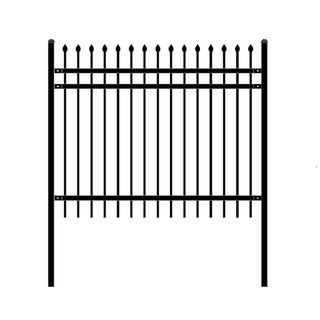 ALEKO Rome Style Self Unassembled Steel Fence 6' x 5' Black