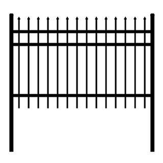ALEKO Rome Style Self Unassembled Steel Fence 6' x 6' Black