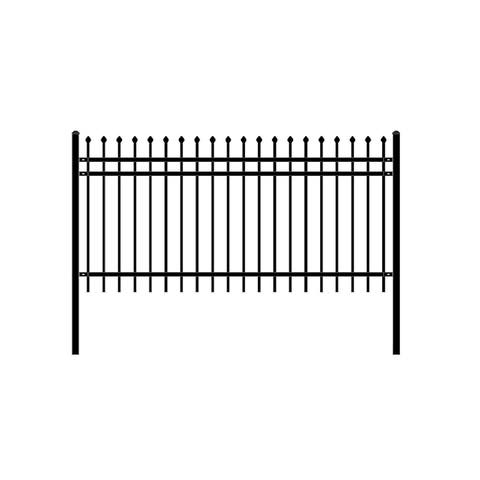 ALEKO Rome Style Self Unassembled Steel Fence 8' x 4' Black