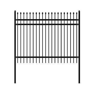 ALEKO Rome Style Self Unassembled Steel Fence 8' x 6' Black