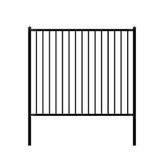 ALEKO Lyon Style Self Unassembled Steel Fence 6' x 5' Black