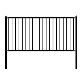 ALEKO Lyon Style Self Unassembled Steel Fence 8' x 4' Black