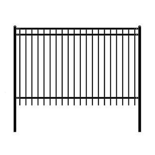 ALEKO Nice Style Self Unassembled Garden Yard Steel Fence 8'x5' Black