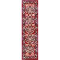 Safavieh Cherokee Bohemian Heriz Red/ Blue Runner Rug - 2' 3 x 8'