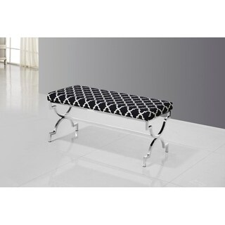 Best Master Furniture Safavieh Black with Stainless Steel Base
