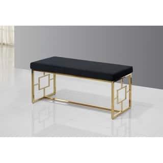 Best Master Furniture Black/ Velvet with Gold Base