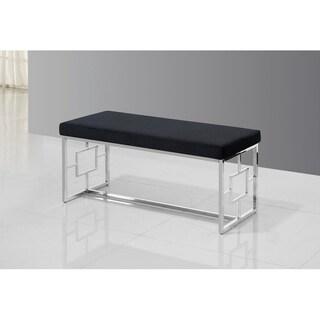 Best Master Furniture Black/ Velvet with Stainless Steel Bench