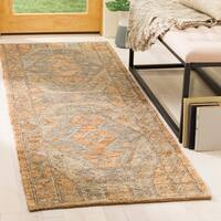 Safavieh Hand-Woven Organic Bohemian Slate/ Natural Jute Rug (2'6 x 8')