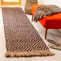 Safavieh Hand-Woven Natural Fiber Brown/ Natural Jute Rug - 2'3 x 8'