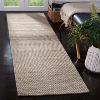 """Safavieh Hand-Woven Natura Beige Wool Rug - 2'3"""" x 8'"""