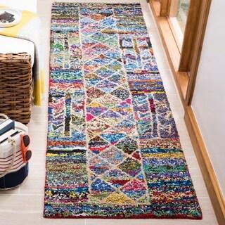 Safavieh Handmade Nantucket Bohemian Multi Cotton Rug (2'3 x 8')