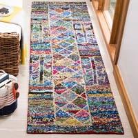 Safavieh Handmade Nantucket Bohemian Multi Cotton Rug - 2'3 x 8'