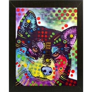 "Shiba Inu Framed Print 6.75""x5.25"" by Dean Russo"