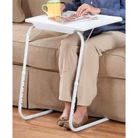 My Comfy Bedside Table Foldable Table Mate Bedside Laptop Table White