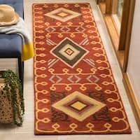Safavieh Handmade Heritage Red/ Multi Wool Rug - 2'3 x 8'