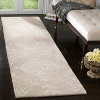Safavieh Handmade Glamour Beige/ Ivory Viscose Rug - 2'3 x 8'