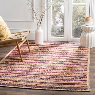 "Safavieh Hand-Woven Cape Cod Natural/ Multi Jute Rug - 2'3"" x 8'"