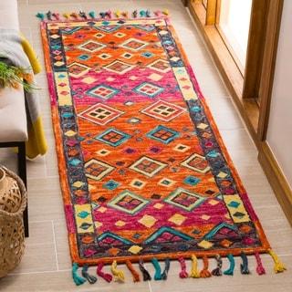 Safavieh Handmade Aspen Bohemian Orange/ Fuchsia Wool Rug (2'3 x 7')