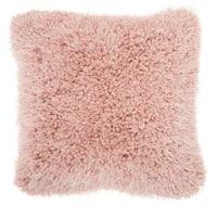 Mina Victory Lush Rose Shag Throw Pillow (20-Inch X 20-Inch)