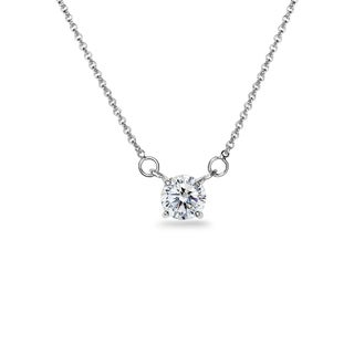 ICZ Stonez Sterling Silver 6mm Solitaire Choker Necklace Made with Swarovski Zirconia