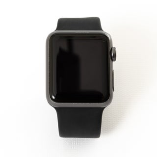 Apple Watch MP032LL/A Series 1 42MM Space Gray Aluminum Case/Black Sport Band - Certified Preloved
