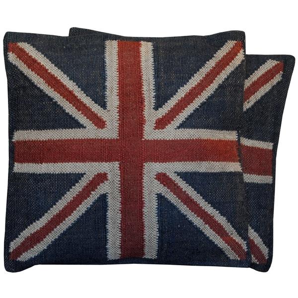 Handmade Kilim Pillow, Set of 2 (India)