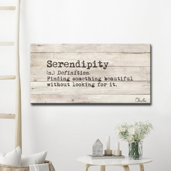 Olivia Rose 'Define Serendipity' Inspirational Canvas Wall Art. Opens flyout.
