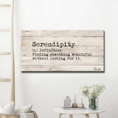 Olivia Rose 'Define Serendipity' Inspirational Canvas Wall Art