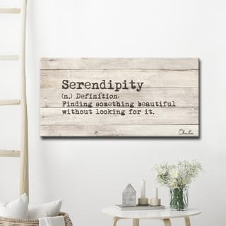 'Define Serendipity' Inspirational Canvas Wall Art
