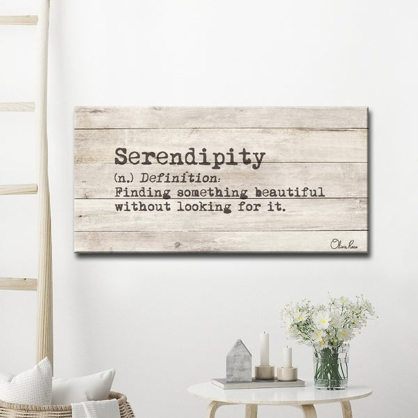 'define Serendipity' Inspirational Canvas Wall Art by Ready2 Hang Art
