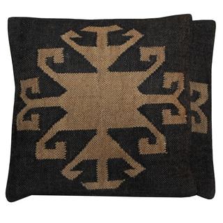 "Handmade Kilim Pillow, Set of 2 (India) - 20"" x 20"""