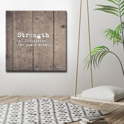 Ready2HangArt 'Define Strength' Inspirational Canvas Art - Brown