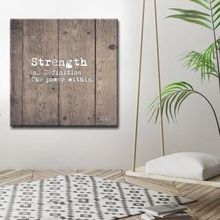 Ready2HangArt 'Define Strength' Inspirational Canvas Art