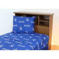 Duke Blue Devils 100% Cotton Sheet Set