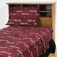 Texas A&M Aggies 100% Cotton Sheet Set