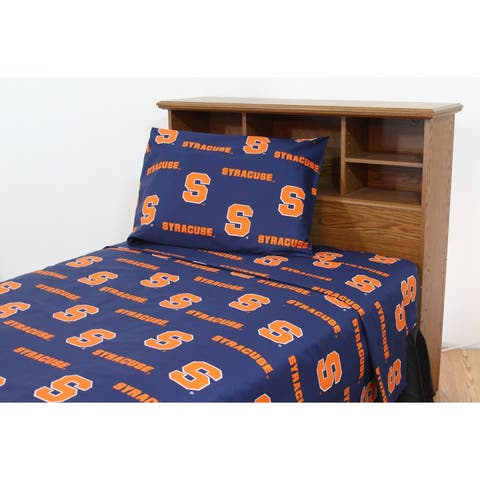Syracuse Orange 100% Cotton Sheet Set