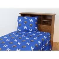 Kentucky Wildcats 100% Cotton Sheet Set