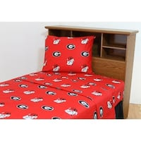Georgia Bulldogs 100% Cotton Sheet Set