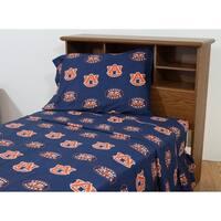 Auburn Tigers 100% Cotton Sheet Set