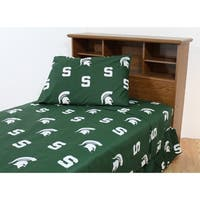 Michigan State Spartans 100% Cotton Sheet Set