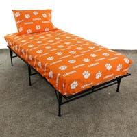 Clemson Tigers 100% Cotton Sheet Set
