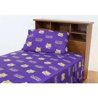LSU Tigers 100% Cotton Sheet Set