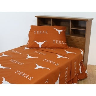 Texas Longhorns 100% Cotton Sheet Set