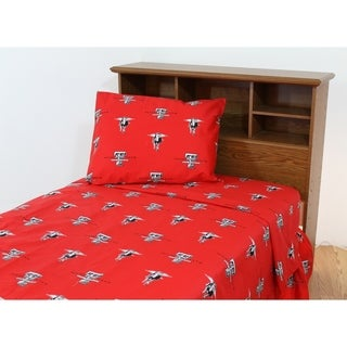 Texas Tech Red Raiders 100% Cotton Sheet Set
