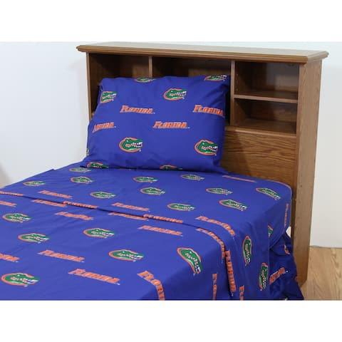 Florida Gators 100% Cotton Bed Sheet Set