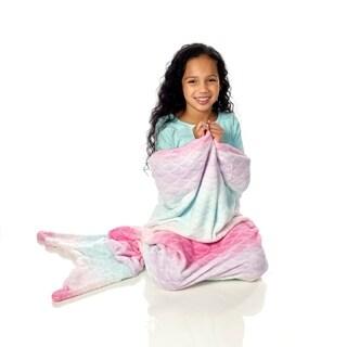 WestPoint Home Pink Ombre Mermaid Plush Kid Throw