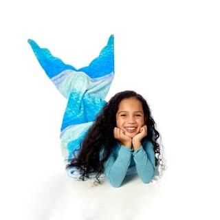 WestPoint Home Blue Ombre Mermaid Plush Kid Throw