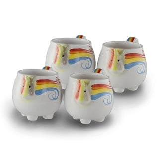 4 Pack Unicorn Whimsical Rainbow Coffee Mug 12 OZ Ceramic Mug