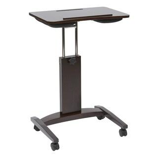 Polaris Height Adjustable Laptop Cart in Espresso Finish